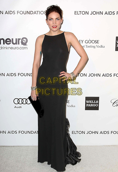 Skylar Grey.The 21st Annual Elton John AIDS Foundation Academy Awards Viewing Party held at The City of West Hollywood Park in West Hollywood, California, USA..February 24th, 2013.oscars full length dress black sleeveless clutch bag hand on hip.CAP/ADM/KB.©Kevan Brooks/AdMedia/Capital Pictures. Oscars