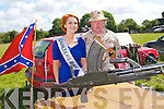 Lixnaw vintage Rally: Attending the Lixnaw Vintage Rally on Sunday last were Rall Queen contestant Siobhan Gilbert & Jim Halpin from the Listowel Military & History Museum.