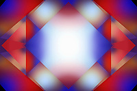 Abstract glowing overlapping square pattern