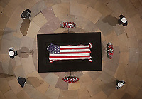 Former President George H. W. Bush lies in state in the U.S. Capitol Rotunda Monday, Dec. 3, 2018, in Washington. <br /> CAP/MPI/RS<br /> &copy;RS/MPI/Capital Pictures