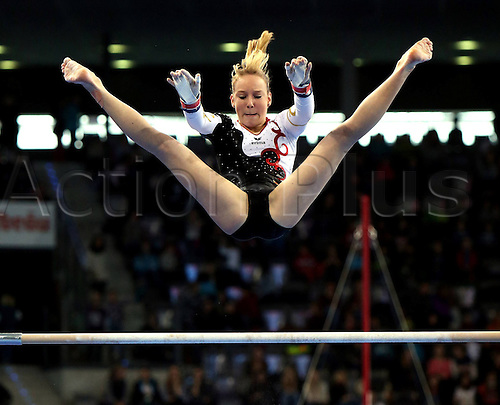 30.11.2012. Stuttgart, Germany.  Level bars Janine Berger ger Gymnastics Artistic gymnastics  World Cup