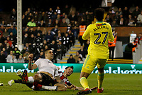 GOAL - Aleksandar Mitrovic of Fulham FC makes it 1-0 during the Sky Bet Championship match between Fulham and Sheff United at Craven Cottage, London, England on 6 March 2018. Photo by Carlton Myrie.