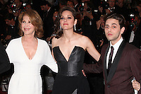 NATHALIE BAYE, MARION COTILLARD AND DIRECTOR XAVIER DOLAN - RED CARPET OF THE FILM 'JUSTE LA FIN DU MONDE' AT THE 69TH FESTIVAL OF CANNES 2016