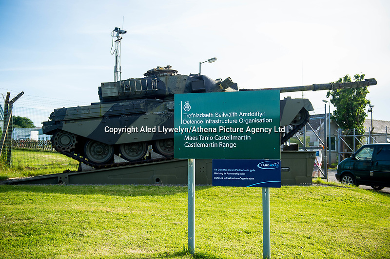 """Wednesday 14 June 2017<br /> Pictured: Views of the front of the training base <br /> Re: Paramedics and a fire crews are in attendance at what has been describes as an """"ongoing incident"""" at a military training base in Pembrokeshire.<br /> The Welsh Ambulance Service said it was alerted to an incident at the Castlemartin firing range just before 15:30 BST on Wednesday.<br /> The range is owned by the Ministry of Defence (MOD) Live firing was due to take place at the range from Monday to Friday.<br /> Mid and West Wales Fire and Rescue Service is also in attendance.<br /> Castlemartin is the only UK Army range normally available for direct-fire live gunnery exercises and is used by Army, Army reserves and cadets.<br /> It is also used by civilian organisations and research establishments."""