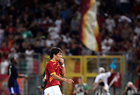 AS Roma forward Bojan Krkic, of Spain, leaves the pitch at the end of an Europa League preliminary second leg football match between AS Roma and SK Slovan Bratislava, at Rome's Olympic stadium, Roma, 25 august 2011..UPDATE IMAGES PRESS/Riccardo De Luca