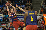 FC Barcelona Lassa's Aleksandar Vezenkov during the match of Endesa ACB League between Fuenlabrada Montakit and FC Barcelona Lassa at Fernando Martin Stadium in fuelnabrada,  Madrid, Spain. October 30, 2016. (ALTERPHOTOS/Rodrigo Jimenez)