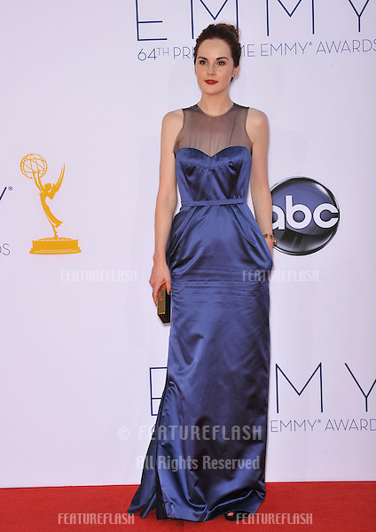 Downton Abbey star Michelle Dockery at the 64th Primetime Emmy Awards at the Nokia Theatre LA Live..September 23, 2012  Los Angeles, CA.Picture: Paul Smith / Featureflash