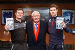 Graeme Murty and Josh Windass with Bobby Brown the oldest living Ranger