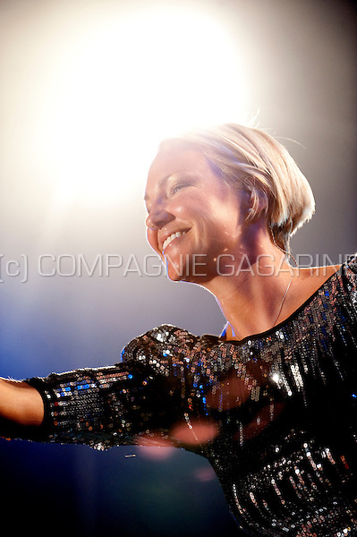 Belgian singer Kate Ryan at the Beleuvenissen festival in Leuven (Belgium, 16/07/2010)