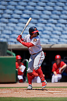 Florida Fire Frogs designated hitter William Contreras (27) during a Florida State League game against the Clearwater Threshers on April 24, 2019 at Spectrum Field in Clearwater, Florida.  Clearwater defeated Florida 13-1.  (Mike Janes/Four Seam Images)