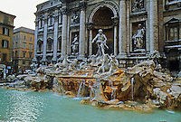 Italy: Rome--Trevi Fountain, 18th C. Photo '82.