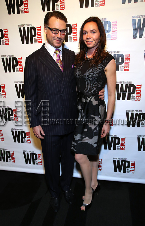Jamal Nusseibeh and Julia Balaeskoul Nusseibeh attends the WP Theater's 40th Anniversary Gala -  Women of Achievement Awards at the Edison Hotel on April 15, 2019  in New York City.