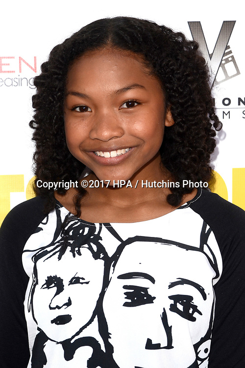 """LOS ANGELES - APR 13:  Laya DeLeon Hayes at the """"The Outcasts"""" Premiere at the Landmark Regent Theater on April 13, 2017 in Westwood, CA"""