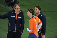 SPEED SKATING: HAMAR: Vikingskipet, 05-03-2017, ISU World Championship Allround, Jac Orie (coach NED), Sven Kramer (NED), Bjarne Rykkje (assistent coach NED), ©photo Martin de Jong