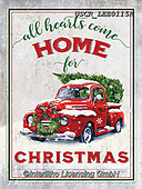 ,CHRISTMAS SYMBOLS, WEIHNACHTEN SYMBOLE, NAVIDAD SÍMBOLOS, paintings+++++,USCRLEE0115K,#xx# ,oldtimer,vintage car