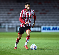 Lincoln City's Kellan Gordon<br /> <br /> Photographer Andrew Vaughan/CameraSport<br /> <br /> The EFL Checkatrade Trophy Northern Group H - Lincoln City v Wolverhampton Wanderers U21 - Tuesday 6th November 2018 - Sincil Bank - Lincoln<br />  <br /> World Copyright © 2018 CameraSport. All rights reserved. 43 Linden Ave. Countesthorpe. Leicester. England. LE8 5PG - Tel: +44 (0) 116 277 4147 - admin@camerasport.com - www.camerasport.com