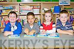 Shaiden Lyne, Marcel Fabis, Katie Keenan and Eoghan Corbett who started school in Ballyfinnane NS on Wednesday..