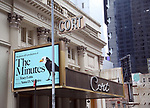 "Theatre Marquee for ""The Minutes"" by Pulitzer Prize-winning playwright Tracy Letts and Tony-winning director Anna D. Shapiro starring Armie Hammer, Jessie Mueller, & Blair Brown at the Cort Theatre on January 13, 2019 in New York City."