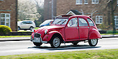Citroen 2CV, Deux Chevaux (two horses).  Built between 1948 and 1990 as a low cost, reliable vehicle which could be used on the land.