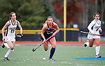EASTON, MA - NOVEMBER 20:  Mary Spisak (24) of Shippensburg University carries the ball against LIU Post during the NCAA Division II Field Hockey Championship at WB Mason Stadium on November 20, 2016 in Easton, Massachusetts.  Shippensburg University defeated LIU Post 2-1 for the national title. (Photo by Winslow Townson/NCAA Photos via Getty Images)