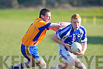 Ballymac's Maurice Shanahan chases Templenoe's Teddy Doyle in the division 3 clash at Ballymac on Saturday.