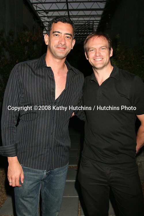 Adrian & David attending the  Daytime for Planned Parenthood Event at a rooftop in Hollywood, CA.June 18, 2008.©2008 Kathy Hutchins / Hutchins Photo .