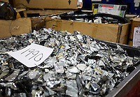 12/4/2008 3:22:55 PM -- Seattle, WA.A bin of scrap metal weighing nearly a ton is one of many components broken down by employees at Total Reclaim Inc., Environmental Services in Seattle Thursday Dec. 4, 2008..