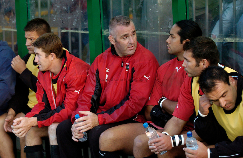 Photo: Richard Lane..Leicester Tigers v Toulon. Pre Season Friendly. 18/08/2006. .Toulon bench.