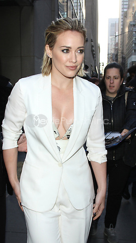 NEW YORK, NY - JANUARY 12: Hilary Duff at NBC's Today Show promoting her TV Land series Younger on January 12, 2016 in New York City. Credit: RW/MediaPunch