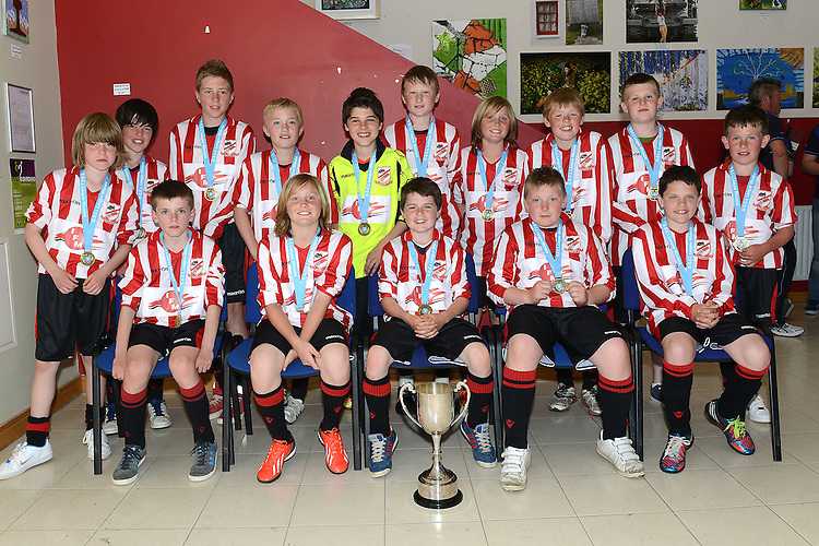 Walshestown Wolves U-12 League division 1 winners. Photo:Colin Bell/pressphotos.ie