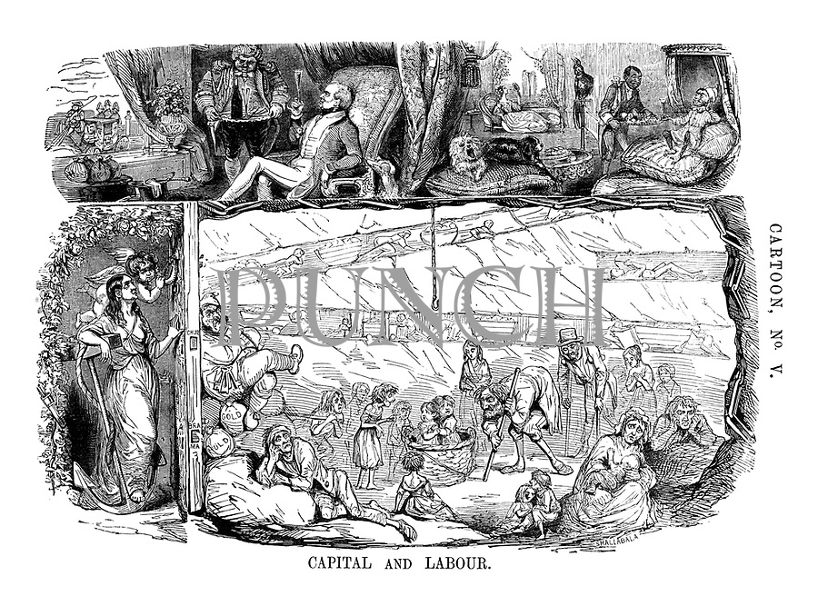 Cartoon, No. V. Capital and Labour.