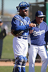 Ramon Castro  of Los Angeles Dodgers,during Spring Trainig 2013..Camelback Ranch  in Arizona. February 25, 2013