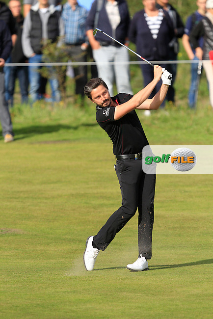 Mike Lorenzo-Vera (FRA) on the 2nd fairway during Round 4 of the 2015 KLM Open at the Kennemer Golf &amp; Country Club in The Netherlands on 13/09/15.<br /> Picture: Thos Caffrey   Golffile