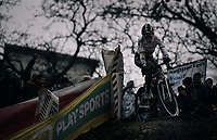 CX world champion Wout Van Aert (BEL/Crelan-Charles)<br /> <br /> Elite Men's race<br /> UCI CX World Cup Namur / Belgium 2017