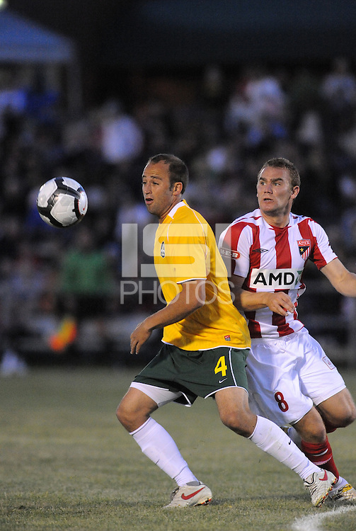 AC St Louis were defeated 1-2 by Austin Aztek in their inaugural home game in front of 5,695 fans at Anheuser-Busch Soccer Park, Fenton, Missouri.