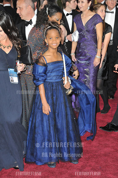 Quvenzhane Wallis at the 85th Academy Awards at the Dolby Theatre, Hollywood..February 24, 2013  Los Angeles, CA.Picture: Paul Smith / Featureflash
