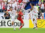 Dariusz Dudka, Roger Guerreiro and Christoph Leitgeb at Euro 2008. Austria-Poland 06122008, Wien, Austria