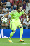 Real Madrid's Kiko Casilla during the XXXVII Bernabeu trophy between Real Madrid and Stade de Reims at the Santiago Bernabeu Stadium. August 15, 2016. (ALTERPHOTOS/Rodrigo Jimenez)