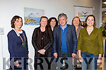 Billy Keane launched Deloras Lyne art exhibition in Killarney Library on Saturday l-r: Kate O'Leary Killarney Chamber of Commerce President, Deloras Lyne, Eileen Sheehan, Billy Keane, Breda Joy and Ellen Cranitch