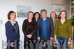 Billy Keane launched Deloras Lyne art exhibition in Killarney Library on Saturday l-r: Kate O'Leary Killarney Chamber of Commerce President, Deloras Lyne, Eileen Sheehan, Billy Keane, Breda Joy and Ellen Cranitch