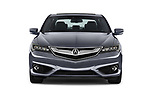 Car photography straight front view of a 2018 Acura ilx Tech Plus A Spec 4 Door Sedan
