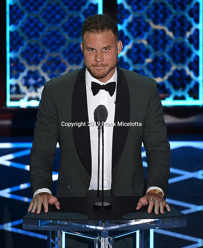 """BEVERLY HILLS - SEPTEMBER 7: Blake Griffin appears onstage at the """"Comedy Central Roast of Alec Baldwin"""" at the Saban Theatre on September 7, 2019 in Beverly Hills, California. (Photo by Frank Micelotta/PictureGroup)"""