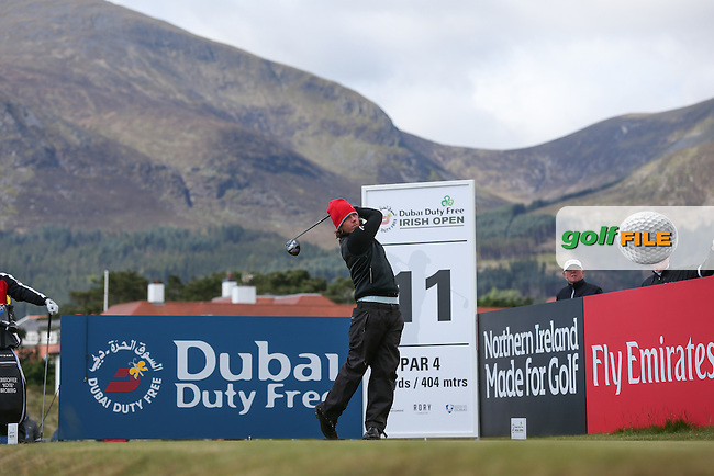 Kristoffer Broberg (SWE) during Round Two of the 2015 Dubai Duty Free Irish Open Hosted by The Rory Foundation at Royal County Down Golf Club, Newcastle County Down, Northern Ireland. 29/05/2015. Picture David Lloyd | www.golffile.ie