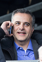 Bristol Rovers Owner & President Mr Wael Al Qadi (Jordanian Qadi Family) makes a call during the Sky Bet League 2 match between Wycombe Wanderers and Bristol Rovers at Adams Park, High Wycombe, England on 27 February 2016. Photo by Andy Rowland.