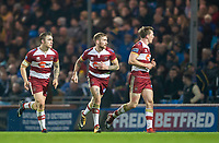 Picture by Allan McKenzie/SWpix.com - 13/04/2018 - Rugby League - Betfred Super League - Leeds Rhinos v Wigan Warriors - Headingley Carnegie Stadium, Leeds, England - Sam Powell, Sam Tomkins and Dan Sarginson.