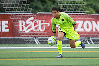 Seattle, Washington - Saturday May 14, 2016: Portland Thorns FC goalkeeper Adrianna Franch (24) during the first half of a match at Memorial Stadium on Saturday May 14, 2016 in Seattle, Washington. The match ended in a 1-1 draw.