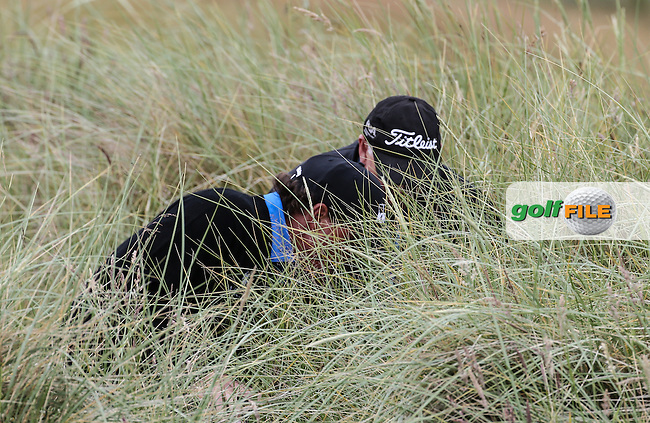 Phil Mickelson (USA) finds his ball in deep rough on the 7th and takes a drop during Round Three of the 2016 Aberdeen Asset Management Scottish Open, played at Castle Stuart Golf Club, Inverness, Scotland. 09/07/2016. Picture: David Lloyd | Golffile.<br /> <br /> All photos usage must carry mandatory copyright credit (&copy; Golffile | David Lloyd)