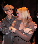 Kelli O'Hara & Robyn Hurder.during the Broadway Opening Night Gypsy Robe Ceremony honoring Cameron Adams in 'Nice Work If You Can Get It' at the ImperialTheatre on 4/24/2012 in New York City.
