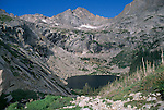 View of McHenry's Peak above Black Lake, Rocky Mtn Nat'l Park, CO