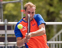Moscow, Russia, 13 th July, 2016, Tennis,  Davis Cup Russia-Netherlands, Training Dutch team, Thiemo De Bakker (NED)<br /> Photo: Henk Koster/tennisimages.com